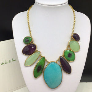 Stella & Dot Serenity Stone Turquoise Necklace